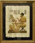 Папирус в багетной раме